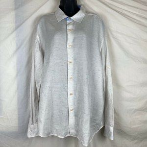 Tommy Bahama Men Shirt XL White Speckled Button